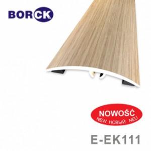 Listwa progowa aluminiowa z okleiną drewnopodobną e-ek111