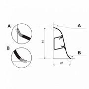 listwa przypodłogowa PREXA44-TECH